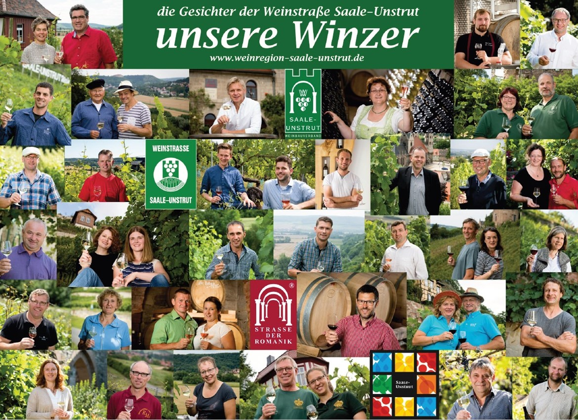 The Saale-Unstrut wine alley, the wine route along the river Weiße Elster and the wine alley Mansfelder Seen pleasurably lead through the region.