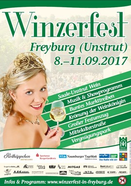 Veranstaltungshinweis - Winzerfest Freyburg 08.-11.09.2017